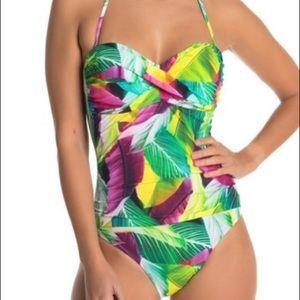 La Blanca  Tropic Bandeau onepiece swimsuit